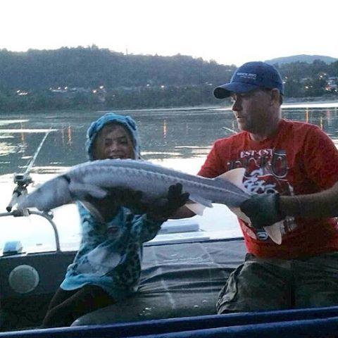 Really fun kid fishingthefraser ilovesturgeon haveyoulostyoursturginity auguststurgeon