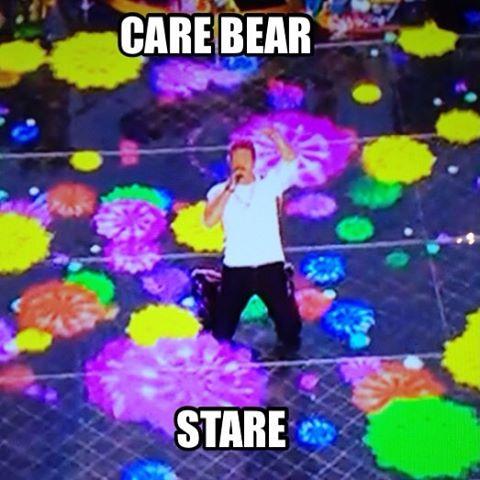 Super Bowl Care Bear Stare